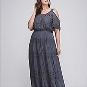 Lane bryant cold shoulder dress with lace